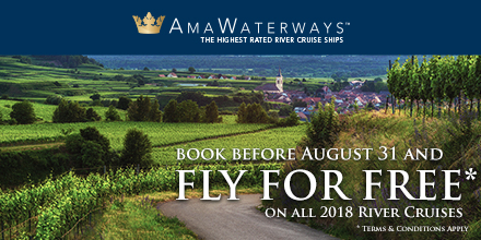 free flights on 2018 river cruises