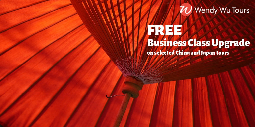 free business class upgrade Wendy Wu Tours