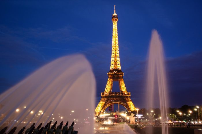 The Eiffel tower evening