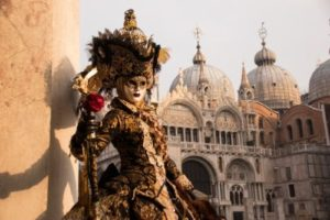Masked Street Performer in Venice