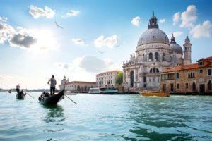 Boat driver in Venice lagoon