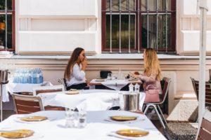 Women having brunch in Vienna